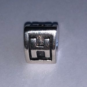 Authentic Pandora Sterling Silver Letter H Charm